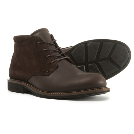 ECCO Findlay Chukka Boots - Leather (For Men) in Coffee/Mocha