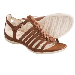 ECCO Flash Fisherman Sandals - Leather (For Women) in Coffee