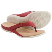 ECCO Flash Thong Sandals - Leather (For Women) in Brick - Closeouts