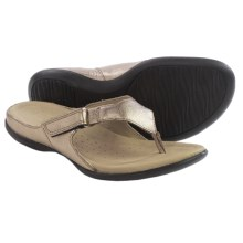 ECCO Flash Thong Sandals - Leather (For Women) in Warm Metallic Grey - Closeouts