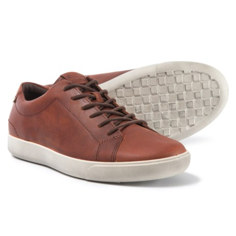 ECCO Gary Casual Sneakers - Leather (For Men) in Cognac