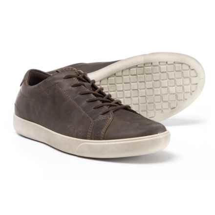 ECCO Gary Casual Sneakers - Leather (For Men) in Dark Clay - Closeouts