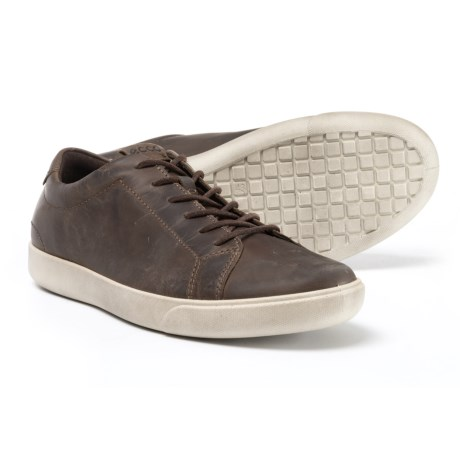 ECCO Gary Casual Sneakers - Leather (For Men) in Dark Clay