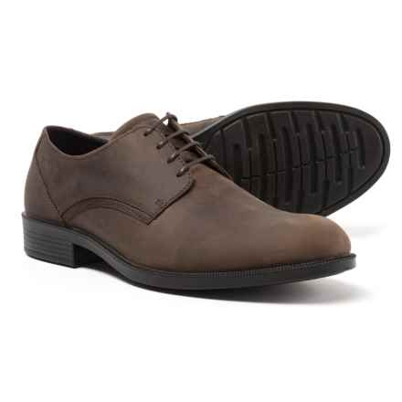 ECCO Harold Plain-Toe Oxford Shoes - Leather (For Men) in Coffee - Closeouts