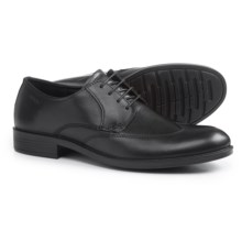 ECCO Harold Tie Wingtip Oxford Shoes - Leather (For Men) in Black - Closeouts