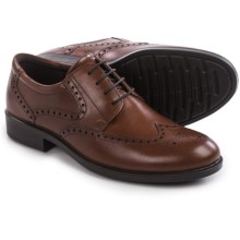 ECCO Harold Tie Wingtip Oxford Shoes - Leather (For Men) in Cognac - Closeouts