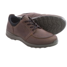 ECCO Hayes Lace Shoes - Leather (For Men) in Mocha Oil Nubuck - Closeouts