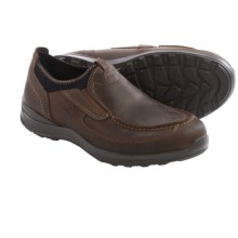 ECCO Hayes Slip-On Shoes - Leather (For Men) in Cocoa Brown Oil Nubuck - Closeouts