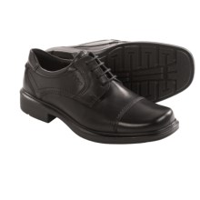 ECCO Helsinki Cap Toe Shoes - Leather (For Men) in Black - Closeouts