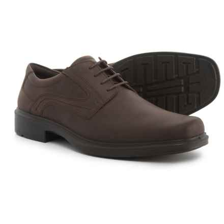 ECCO Helsinki Plain-Toe Oxford Shoes - Leather (For Men) in Coffee - Closeouts