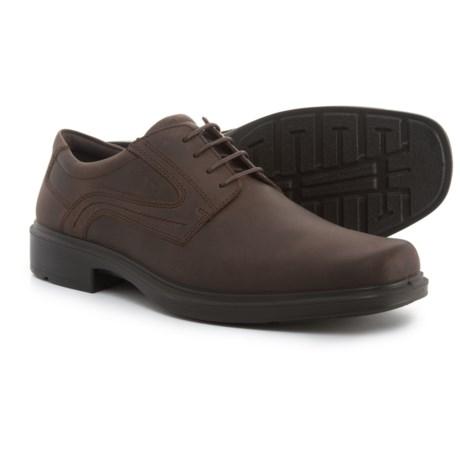 ECCO Helsinki Plain-Toe Oxford Shoes - Leather (For Men) in Coffee