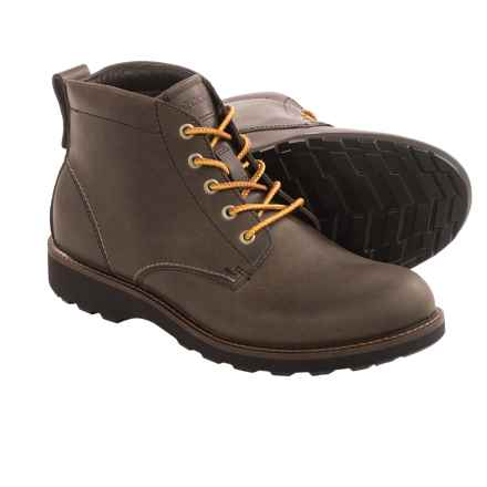 ECCO Holbrok Lace Boots - Leather (For Men) in Dark Clay Pull Up - Closeouts