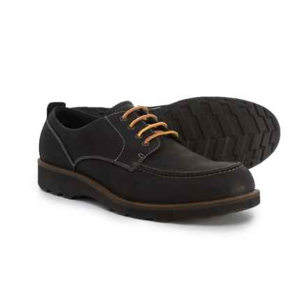 ECCO Holbrok Lace Moc-Toe Oxford Shoes - Leather (For Men) in Black - Closeouts