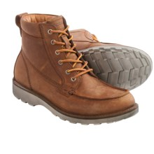 ECCO Holbrok Moc Lace Boots - Leather (For Men) in Amber - Closeouts