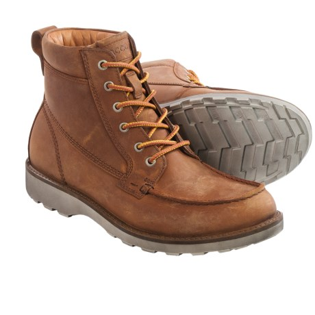 ECCO Holbrok Moc Lace Boots Leather (For Men)