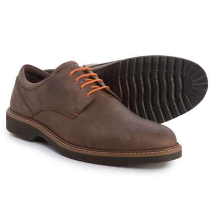 ECCO Ian Casual Tie Oxford Shoes - Leather (For Men) in Coffee - Closeouts
