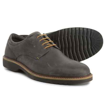 ECCO Ian Casual Tie Oxford Shoes - Leather (For Men) in Moonless - Closeouts