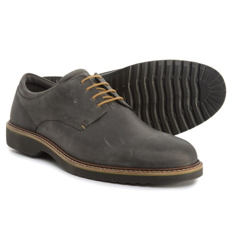 ECCO Ian Casual Tie Oxford Shoes - Leather (For Men) in Moonless