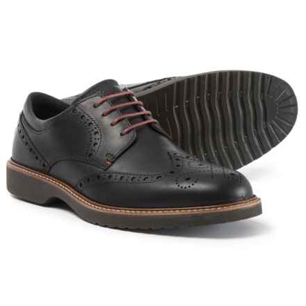ECCO Ian Wingtip Shoes - Leather (For Men) in Black - Closeouts