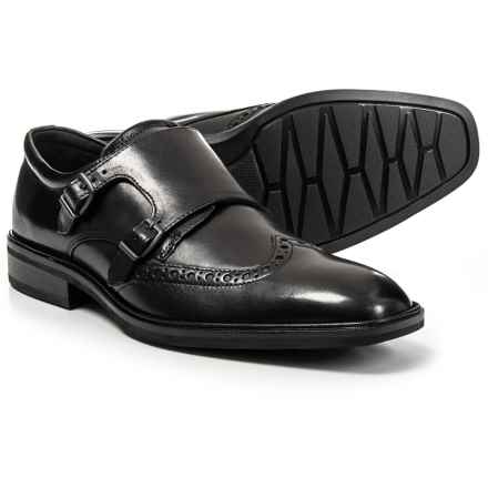 ECCO Illinois Monk Strap Oxford Shoes - Leather (For Men) in Black - Closeouts