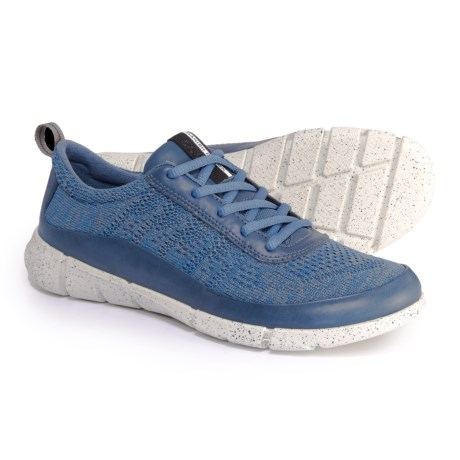 ECCO Intrinsic 1 Low-Cut Lace Shoes (For Women) in Denim Blue/Moon