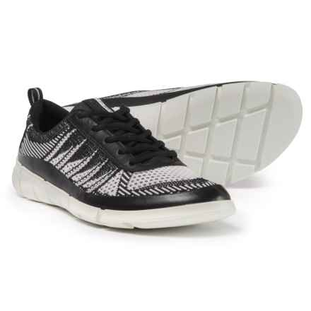 ECCO Intrinsic 1 Sneakers - Leather (For Men) in Black/White - Closeouts