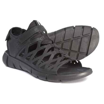 ECCO Intrinsic 2 Sandals - Leather (For Women) in 51052 Black/Black - Closeouts