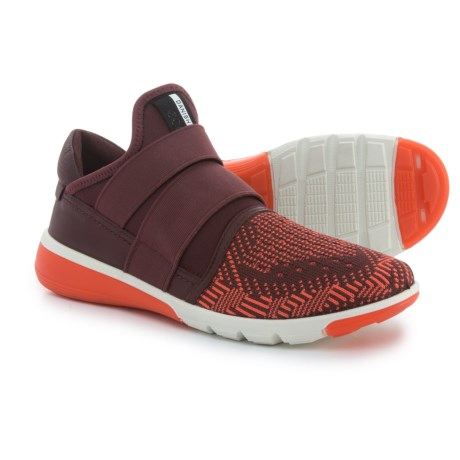ECCO Intrinsic 2 Shoes - Slip-Ons (For Women) in Coral Blus/Bordeaux