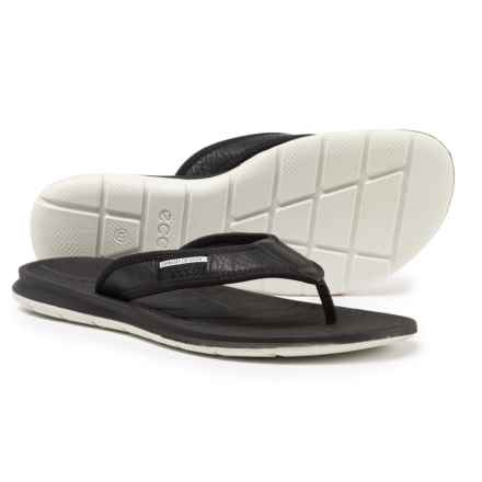 ECCO Intrinsic Toffel Flip-Flops - Leather (For Men) in Black - Closeouts
