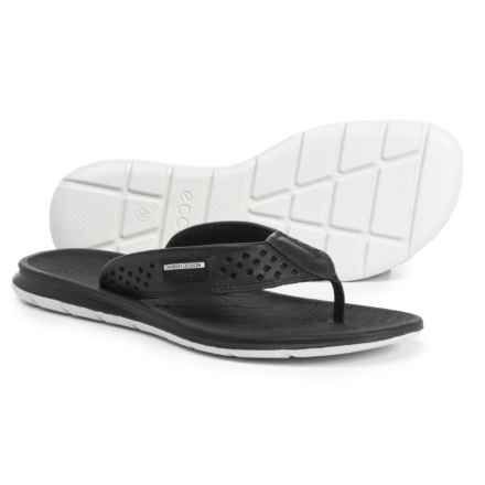 ECCO Intrinsic Toffel Flip-Flops - Leather (For Women) in Black Toffel - Closeouts