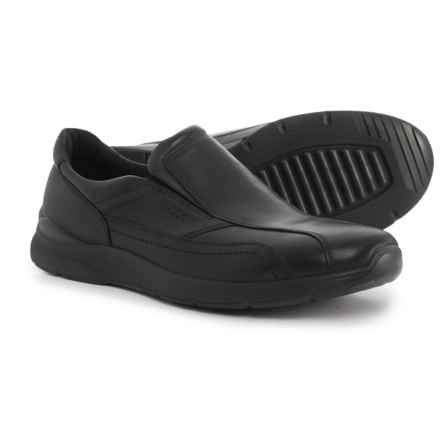ECCO Irving Leather Shoes - Slip-Ons (For Men) in Black - Closeouts