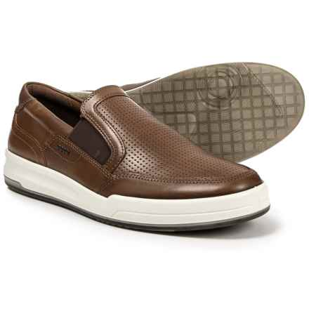 ECCO Jack Sneakers - Leather, Slip-Ons (For Men) in Cocoa - Closeouts