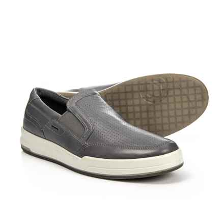 ECCO Jack Sneakers - Leather, Slip-Ons (For Men) in Titanium - Closeouts