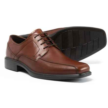 ECCO Johannesburg Bike Toe Oxford Shoes - Leather (For Men) in Cognac - Closeouts