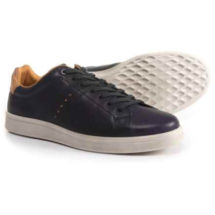 ECCO Kallum Sneakers - Leather or Suede (For Men) in Night Sky/Lion - Closeouts
