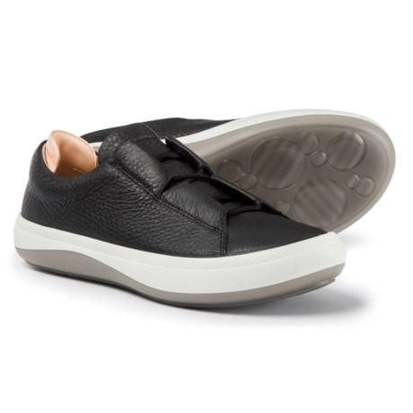 ECCO Kinhin Low Sneakers - Leather (For Women) in Black/Veg Tan Hesita/Soundwave