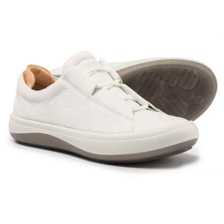 ECCO Kinhin Low Sneakers - Leather (For Women) in White/Veg Tan Hestia/Soundwave - Closeouts