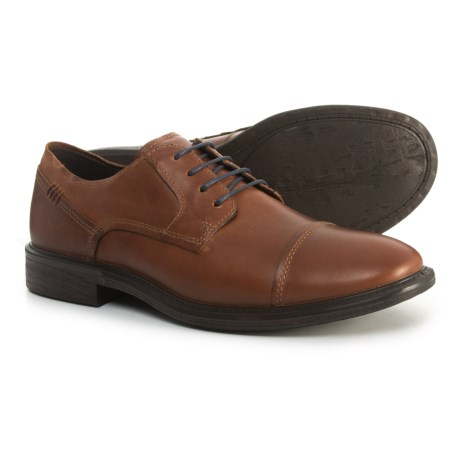 f8befe152b ECCO Knoxville Oxford Shoes - Leather (For Men) in Cognac