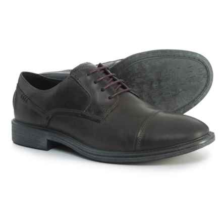 ECCO Knoxville Oxford Shoes - Leather (For Men) in Moonless - Closeouts
