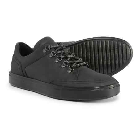 ECCO Kyle Sneakers - Leather (For Men) in Black - Closeouts
