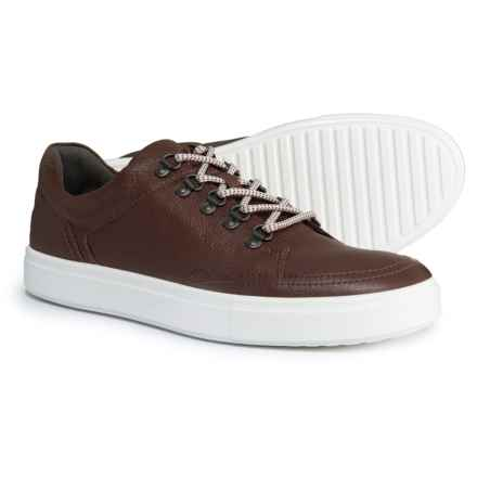 ECCO Kyle Sneakers - Leather (For Men) in Fudge - Closeouts