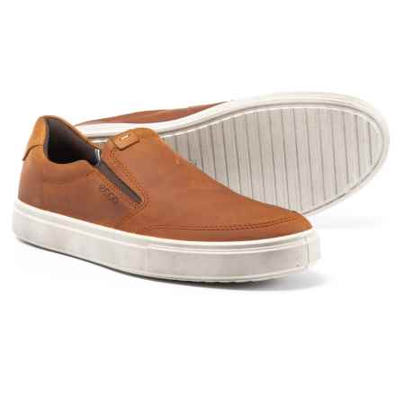 ECCO Kyle Sneakers - Leather, Slip-Ons (For Men) in Amber - Closeouts