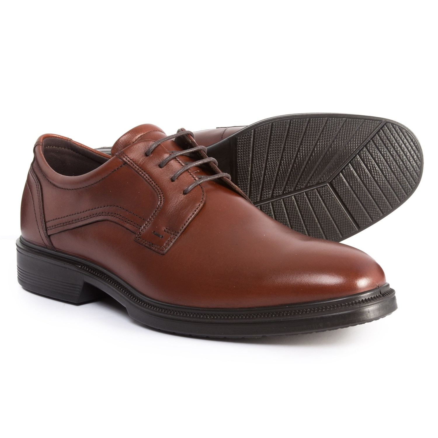 ECCO Lisbon Oxford Shoes - Leather (For Men) in Cognac 1757bceddb