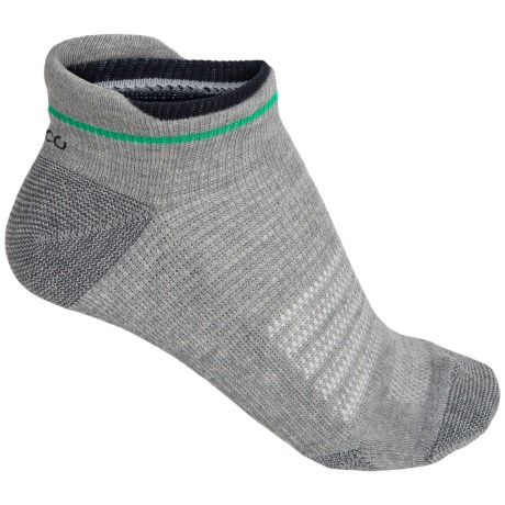 ECCO Low-Cut Tab Sport Socks - Pima Cotton, Below the Ankle (For Women) in Green