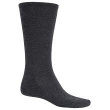 ECCO Luxe Dress Socks - Pima Cotton, Crew (For Men) in Charcoal - Closeouts