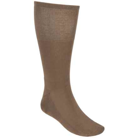 ECCO Luxe Dress Socks - Pima Cotton, Crew (For Men) in Taupe - Closeouts