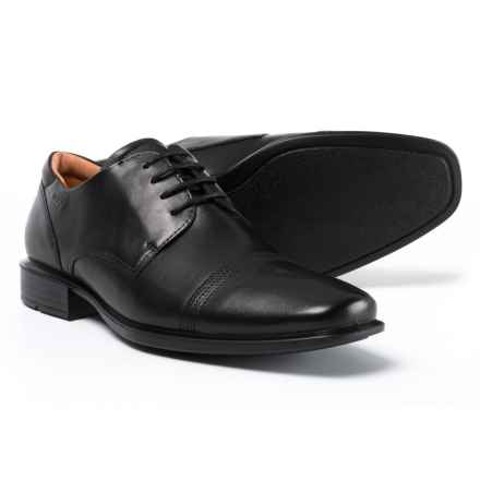 ECCO Made in Portugal Cairo Oxford Shoes - Leather (For Men) in Black - Closeouts
