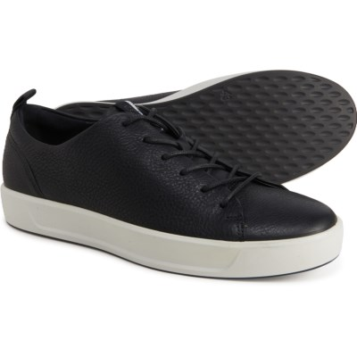 black leather casual sneakers
