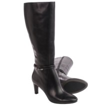 ECCO Nephi Tall Leather Boots (For Women) in Black Leather - Closeouts