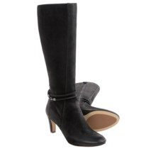 ECCO Nephi Tall Leather Boots (For Women) in Black Nubuck - Closeouts